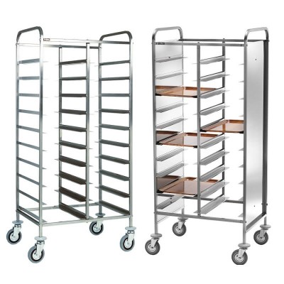 Steel tray trolley for 20 Gastronorm trays. CA1460 - Forcar