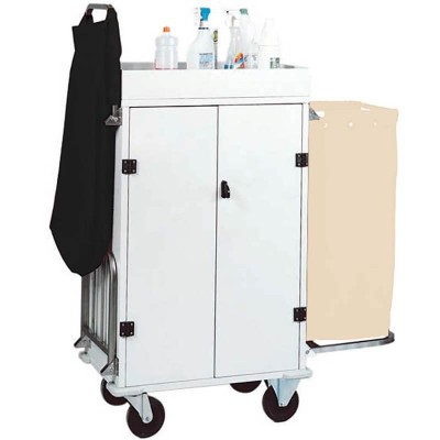 Multipurpose laundry trolley, cupboard with 3 shelves, 2 luggage racks. Model: CA1530 - Forcar