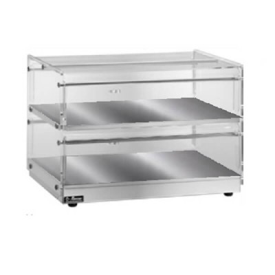 Neutral two-storey showcase, stainless steel and plexiglass structure - Forcar