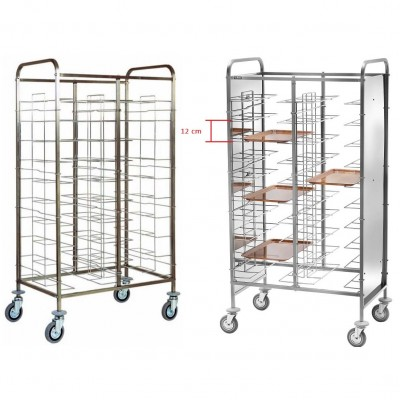 Universal stainless steel tray trolley with 20 trays. CA1465 - Forcar