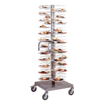 Trolley for 96 plates with steel structure - Forcar