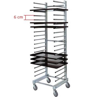 Stainless steel universal rack trolley. Model: CA1480 - Forcar