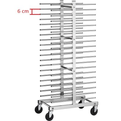 Double stainless steel universal rack trolley. Model: CA1480D - Forcar