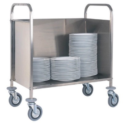Dish trolley, capacity about 200 empty dishes. - Forcar