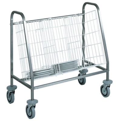 Dish trolley for about 100 empty dishes. - Forcar