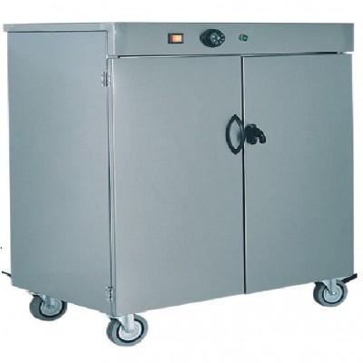 Mobile scaldapiatti carellato in acciaio Inox fino 100 piatti - Forcar