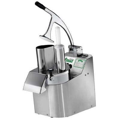 Professional electric vegetable cutter AISI304 stainless steel frame and lifting mouth. 3000N - Fimar