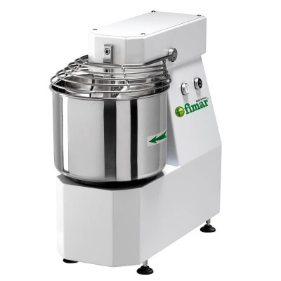 Spiral kneading machine with fixed head, bowl capacity 7kg. Single-phase. 7SN - Fimar