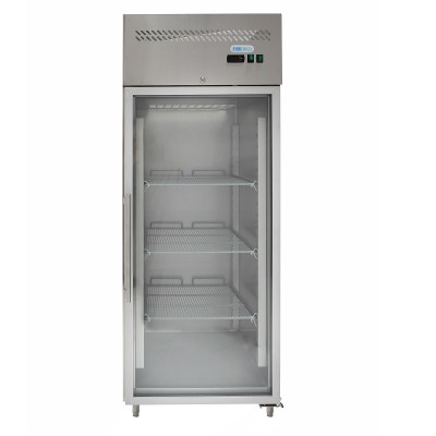 Freezer cabinet -18/-22°C with glass door. Ventilated. GN650BTG-FC - Forcar