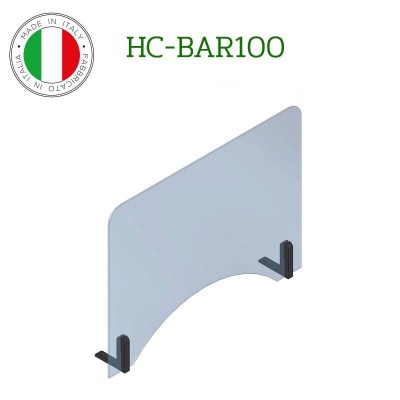 Barriera protettiva di distanziamento sociale in policarbonato. Modello Fimar HC-BAR100 - Fimar