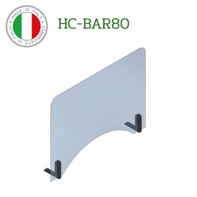 Barriera protettiva di distanziamento sociale in policarbonato. Modello Fimar HC-BAR80 - Fimar