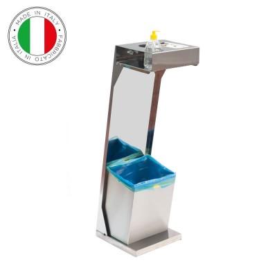 Colonnina porta gel, porta guanti e porta rifiuti. Fimar HC-STANDS - Fimar
