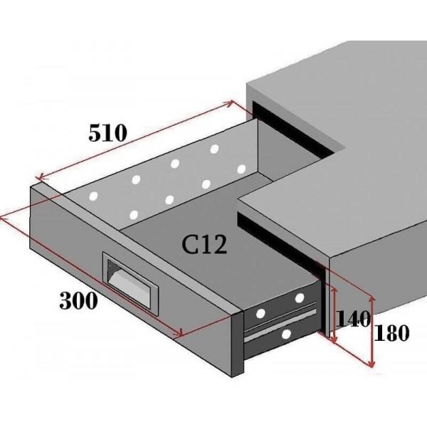 Tavolo gastronomia refrigerato ventilato telaio inox AISI304