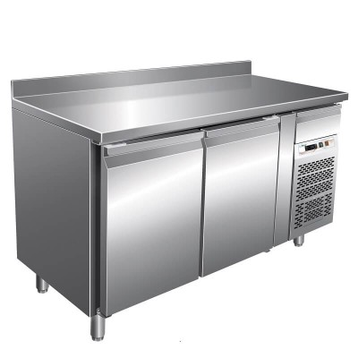Refrigerated table for Pastry Temp 2/8°, with splashback, AISI 201 stainless steel. GPA2200TN-FC - Forcar