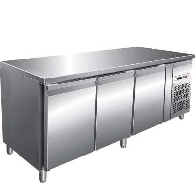 Refrigerated pastry counter temp. 2/ 8 °C, AISI 201 stainless steel. GPA3100TN-FC - Forcar