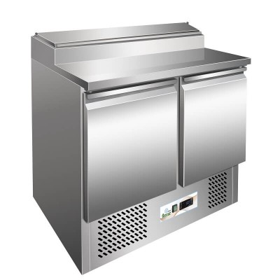 Static saladette, stainless steel frame, temp 2° 8°C mod. GPS200-FC - Forcar