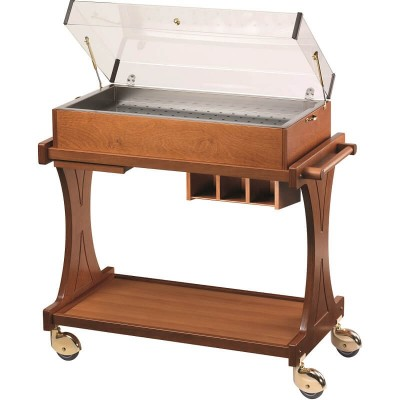 Eutectic plate display trolley with plexiglass dome - Forcar