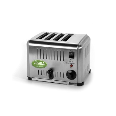 Vertical toaster 1.8Kw, stainless steel. 4 independent rooms. FTPI4 - Fame industries
