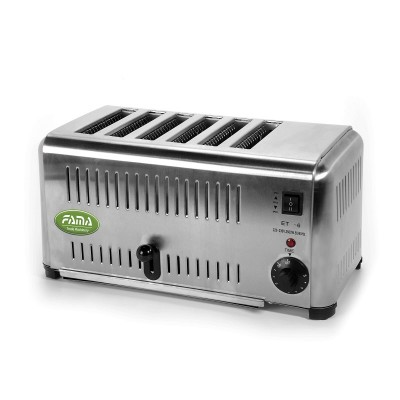 Vertical toaster 2.5kW, stainless steel. 6 independent rooms. FTPI6 - Fame industries