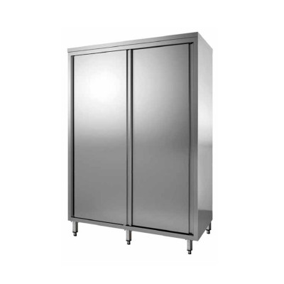 Stainless steel wardrobe with sliding doors, depth 70 cm - Forcar