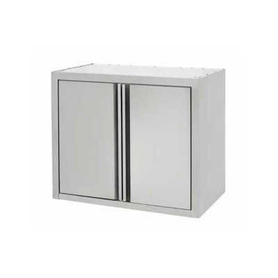 Stainless steel wall unit with hinged doors. Width 60 or 80 cm - Forcar