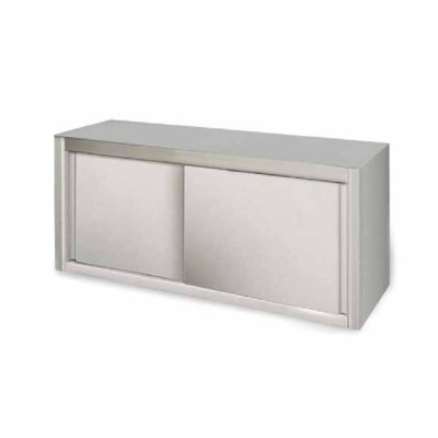 Stainless steel wall unit with sliding doors. Width from 100 to 200 cm - Forcar