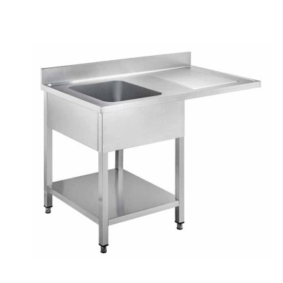 Cantilevered stainless steel sink with one basin - Forcar