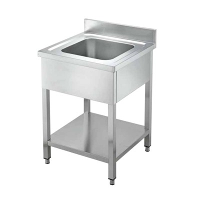 Open stainless steel sink with one basin, without drainer - Forcar
