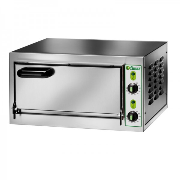 MICRO 1C Electric pizza oven with chamber height 11 cm. 2,2 kW Choice of Czech door. - Fimar