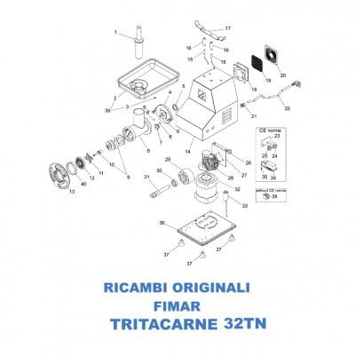 Esploso per ricambi per tritacarne Fimar 32TN - Fimar