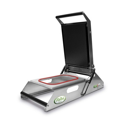 Manual heat sealer FTRM20, compact stainless steel design . 20 cm coil -
