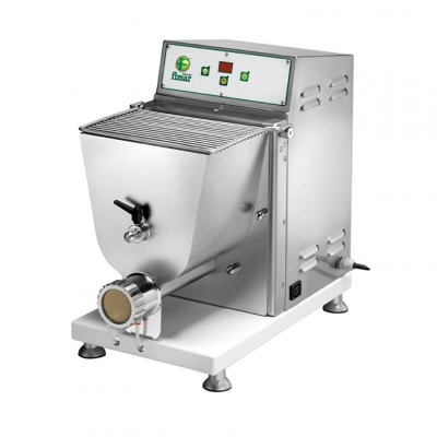 Professional machine for fresh pasta. Tub of 3,5Kg. Refrigerated die and automatic knife PF40E - Fimar