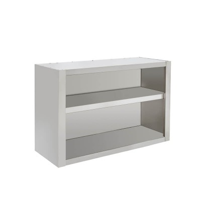 Stainless steel open wall unit. Width from 60 to 200 cm -