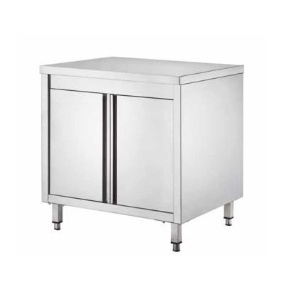 Tavolo armadiato Inox, con porte battenti, profondità 70 cm - Forcar