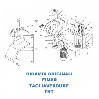 Esploso ricambi per tagliaverdure Fimar FNT - Fimar