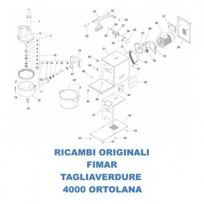 Esploso ricambi per tagliaverdure 4000 Ortolana Fimar TV4000 - Fimar