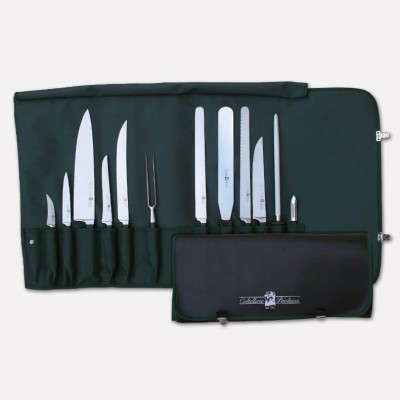 Chef's roll-up bag with set of 12 professional knives Master Chef line. 3995 - Coltellerie Paolucci
