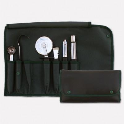 Borsello avvolgibile per cuoco con set di 6 gadget da cucina professionali linea Master Chef. 1990 - Coltellerie Paolucci