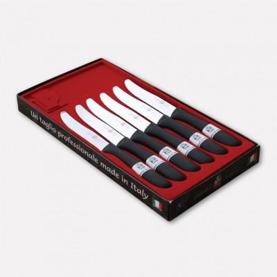 Confezione 6 coltelli da tavola con lama inox e manico in nylon. 1709 - Coltellerie Paolucci