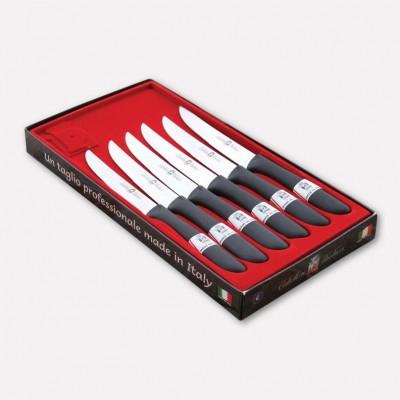 Confezione 6 coltelli da bistecca con lama inox e manico in nylon. 1710 - Coltellerie Paolucci
