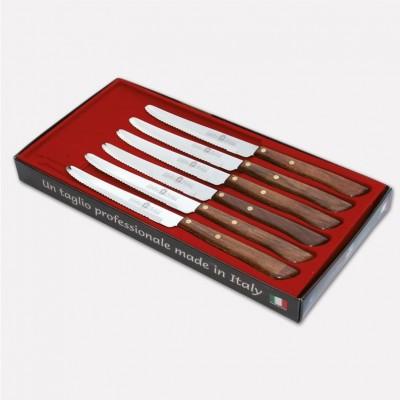 Confezione 6 coltelli da tavola con lama inox e manico in durafol. 1719 - Coltellerie Paolucci