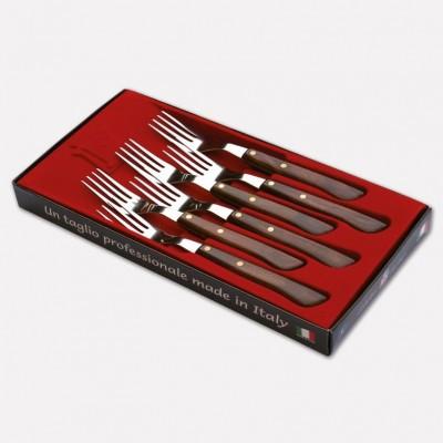 Confezione 6 forchette da tavola con lama inox e manico in durafol. 1717 - Coltellerie Paolucci