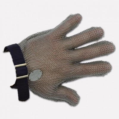 Stainless steel glove 5 fingers with strap, Various sizes available. 9000 - Coltellerie Paolucci