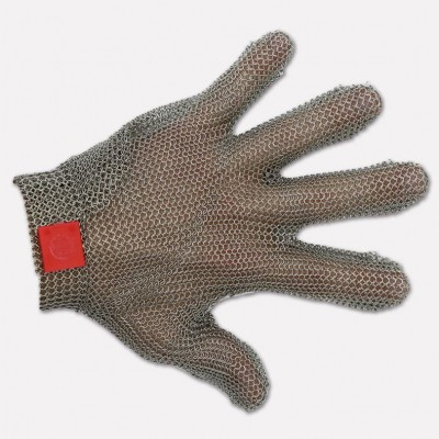 Stainless steel glove 5 fingers with hook, Various sizes available. 9008 - Coltellerie Paolucci