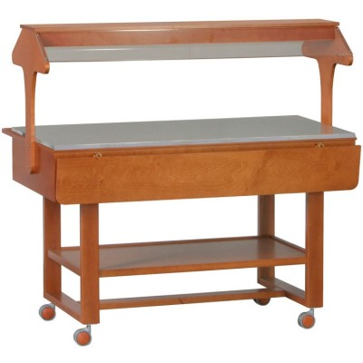 Neutral wooden display stand. Model: ELN2835