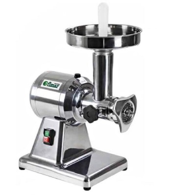 Professional meat grinder 12B with stainless steel grinding unit. 750 Watt. Aluminium structure - Fimar