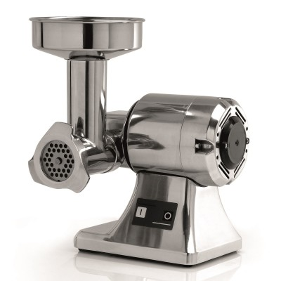 Semi-professional meat grinder TS8 with grinding unit in alimentary aluminium. 380 Watt Single-phase. FTSM101 - Fama industrie
