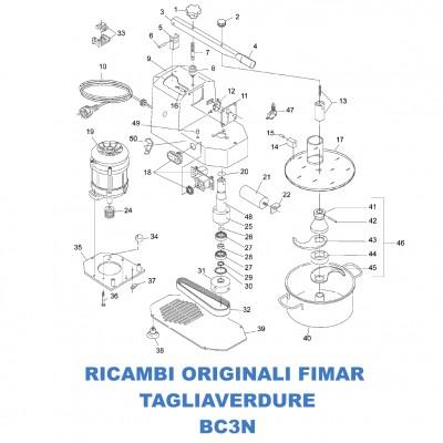 Esploso ricambi per tagliaverdure Fimar BC3N
