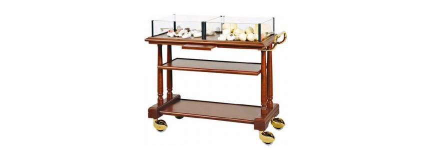 Carts for desserts, cheeses and appetizers