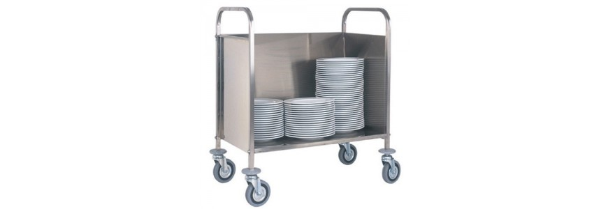 Trays, glasses and baskets